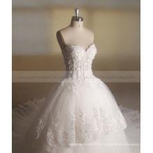 Princesa Hermosa lentejuelas flores de piso de tren largo vestido de novia vestido de bola Zhongshan