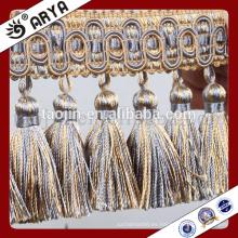 2016 Nuevos productos artesanales chinos para decoración del hogar y accesorios de la cortina de los granos largos de Handmake Fringe