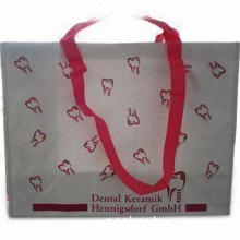 Color Printed Nonwoven Shopping Bag with Aluminum Foil and Self Piping Material