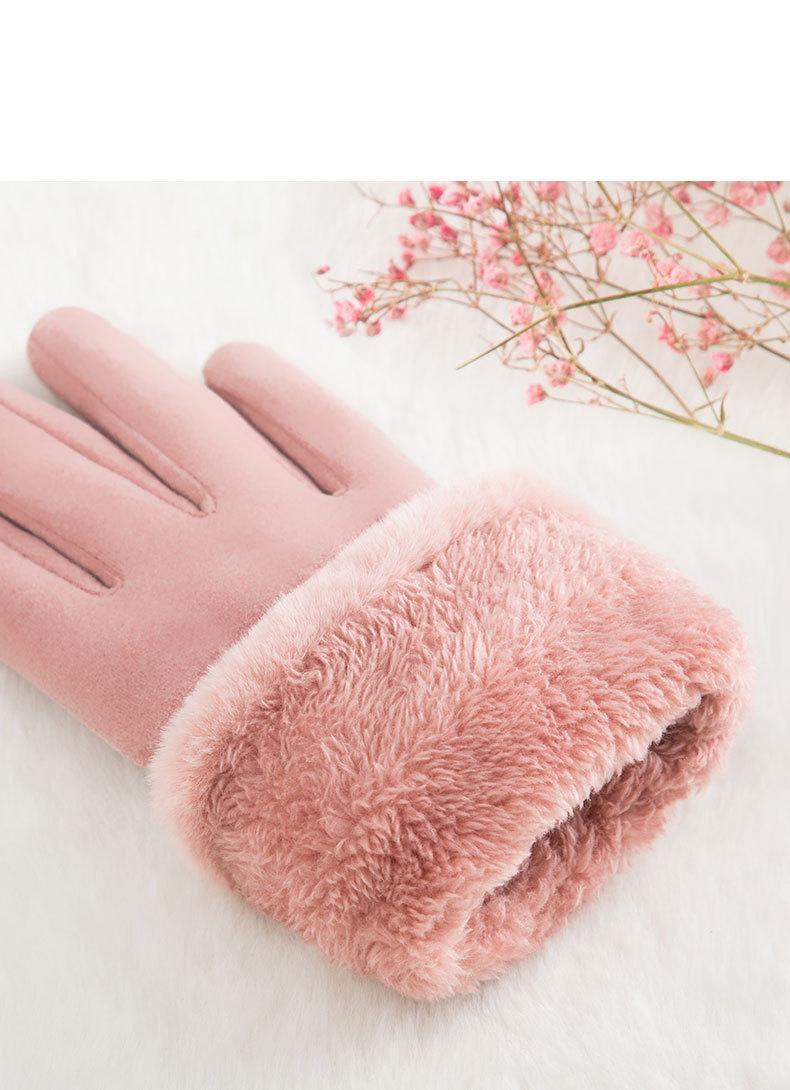 Warm gloves female outdoor touch screen gloves (3)