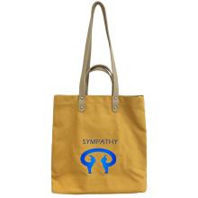 Simple hand art canvas bags shoulder shoulder bag