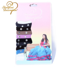New design Seamless Terry Cloth Elastic Hair Ties with shinny diamond