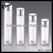 3/4/5/6ml aluminum screw cap bottle; aluminum screw cap clear bottle