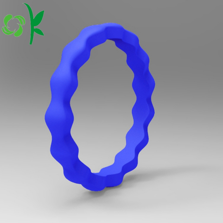 silicone deep blue ring