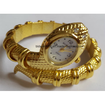 Kuvars Altın Bileklik Bileklik Kol Saatleri Bayanlar için