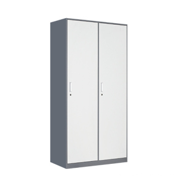 Fadeless multi-function 2 door industrial metal wardrobe