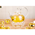 Heat resistant handmade glass tea pot in stock