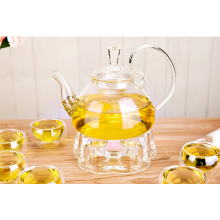 Hitzebeständiges handgemachte Glas Teekanne auf Lager