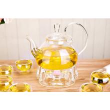 Heat resistant handmade glass tea pot in stock