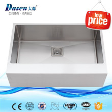 DS-2621 Aço Inoxidável inoxidável pia buraco máquina de corte artesanal pias dissipador de aço inoxidável hexagonal