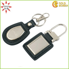 Hot Sale Rectangle Shaped Blank Leather Keychain