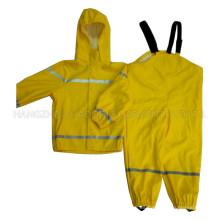 Impermeable de la PU impermeable sólido amarillo