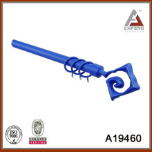 A19460 decorate aluminium painted curtain rod finial,double single curtain pole,curtain accessories