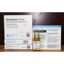 Nicardipine Injecção 10mg / 10ml
