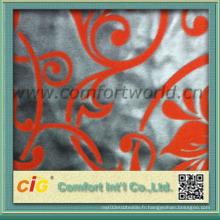 Housse d'ameublement d'ameublement en tissu en chrome en polyester
