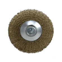Good Quality Flat-shaped Wheel Crimped Brass Wire Brush For Polishing