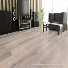Light Smoked&Brushed White Oiled Oak Engineered Hardwood Flooring