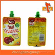 Heiß!!! Kundenspezifisch bedruckte Fruchtpüree mit Gummi-Auslauf