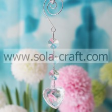 Supply 14.5CM Transparent Acrylic Crystal Faceted Heart Holiday Beading Garland Prism