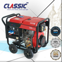 CLASSIC(CHINA) Household 6KW Diesel Electric Generator, Diesel Air Cooled Generator for Backup with Handles and Wheels