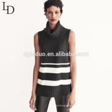 Горячая продажа тонкий рукавов вязаный джемпер водолазка пуловер свитер женщин