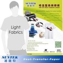 Papel de transferencia de la prensa del calor del color ligero al por mayor A4 (STC-T02)