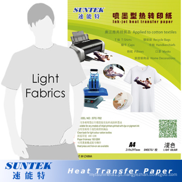 Atacado A4 Light Color Heat Heat Transfer Paper (STC-T02)