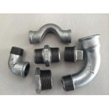 Beaded Tee Malleable Iron Pipe Fitting With Ribs
