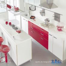 Brilliant Gloss White & Red UV Küchenschränke