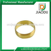 Zhejiang factory good quality and competitive price forged original brass color 1/2 inch npt olives 22mm