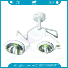AG-LT017B Halogen bulbs operating room two heads economic surgical room lamp