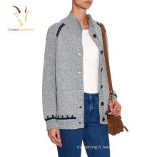 Vêtements de cardigan chandail surdimensionné en laine épaisse