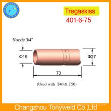 Mig-Fackel Zubehör 401-6-75 Tregaskiss Schweißpistole Düse