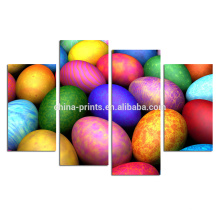 Huevos Impresión fotográfica de Giclee en lona / decoración de la pared del día de fiesta / arte colorido al por mayor de la lona