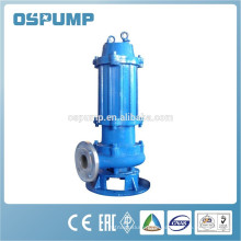 Energy-efficient non-clog submersible sewage cutter pump