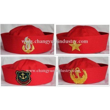 Promotional red cotton seaman sailor cap hat