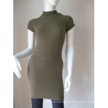 Vestidos largos de mujer manga corta algodón sin costuras