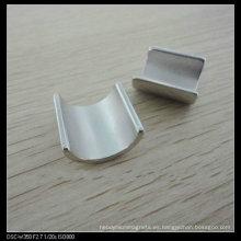 Imán del segmento motor del neodimio con la galjanoplastia de níquel