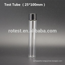 Flat Bottom Glass test tube (25*100mm) with bakelite screw cap