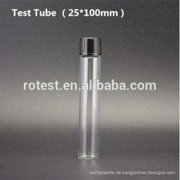 Flachglas-Reagenzglas (25 * 100mm) mit Bakelit-Schraubverschluss