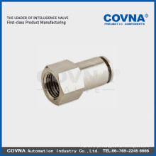 Conexão pneumática PCFT montagem rápida acoplamento de plástico