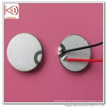 Ultrasonido de 15 mm Piezoeléctrico doble electrodo de cerámica Buzzer