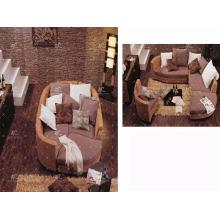 WABR-007 New Design Sectional Bed móveis de quarto de vime (mão tecida por vime, jacinto e moldura de madeira)