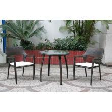 Chaise de loisirs en osier de rotin de jardin en plein air
