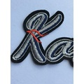 fashion style iron on word embroidery tshirt patch