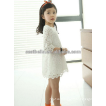 Дешевые девушки белый розовый платье цветок девочки платья Рождество платье