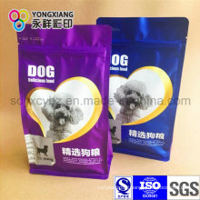 Dimensional Pet Food Plastic Packaging Bag with Flat Bottom