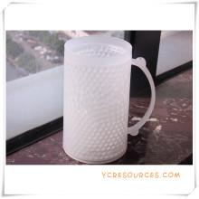 Double tasse givrée de mur tasse de bière de glace congelée pour des cadeaux promotionnels (HA09075)