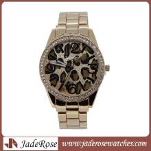 Leopard Pattern Dial Fashion Quartz reloj de pulsera para dama