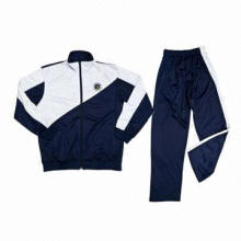 Sweat suit in navy blue + white